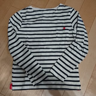 フェリシモ(FELISSIMO)の美品☆フェリシモ☆ボーダーロンT140㎝(Tシャツ/カットソー)