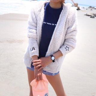 ジェラートピケ(gelato pique)の西海岸ファッション☆LUSSO SURF 刺繍ボアパーカー Sサイズ☆ベアフット(パーカー)