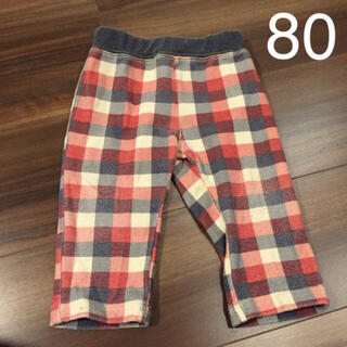 ニシマツヤ(西松屋)のブロックチェック パンツ 80cm(パンツ)