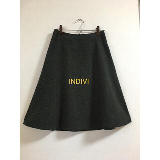 インディヴィ(INDIVI)のインディヴィ(ひざ丈スカート)