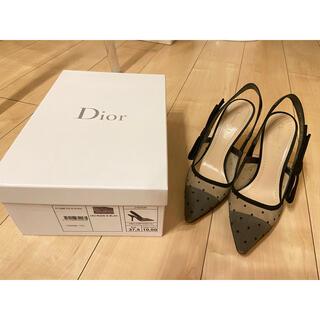 Dior - christian dior チュール パンプス リボン