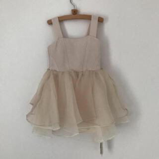スナイデル(snidel)の新品未使用 スナイデル  キッズドレス  結婚式  チュール ピンクベージュ (ドレス/フォーマル)