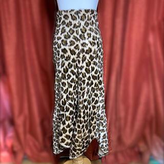 ⭐️値下げ⭐️豹柄の暖かいロングスカート (ロングスカート)