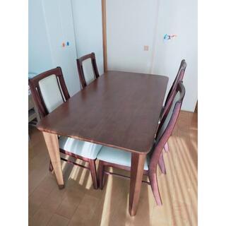 (値下がり) ダイニングテーブルセット(テーブル×1、椅子×4)