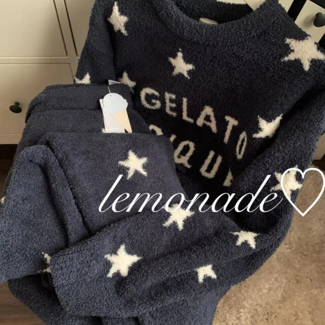 gelato pique(ジェラートピケ)のレア♡パウダースタージャガード上下♡ネイビー レディースのルームウェア/パジャマ(ルームウェア)の商品写真
