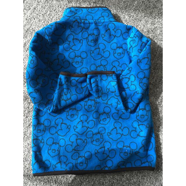 UNIQLO(ユニクロ)のユニクロミッキーフリース110 キッズ/ベビー/マタニティのキッズ服男の子用(90cm~)(ジャケット/上着)の商品写真