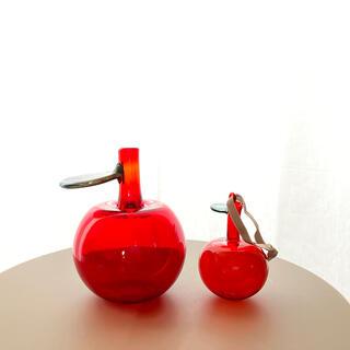 イッタラ(iittala)のApple りんご レッド Oiva Toikka アートピース シリアルあり(置物)