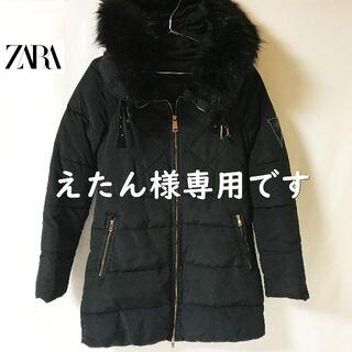 ZARA - 【ZARA】ザラ ビックフーディー モッズキルトコート