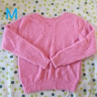 ミッシュマッシュ(MISCH MASCH)の新品 M 定価4900円 セーター シャギーニット Vネック ピンク ラメ タグ(ニット/セーター)