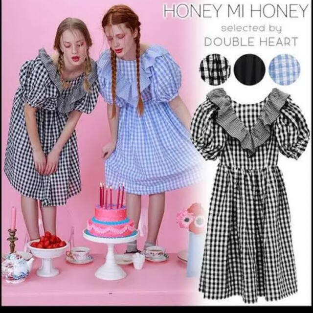 Honey mi Honey(ハニーミーハニー)のチェック ワンピース レディースのワンピース(ロングワンピース/マキシワンピース)の商品写真