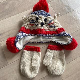 ネクスト(NEXT)のnext 🇬🇧 ニット帽 & 手袋 グローブ ミトン 毛糸(帽子)