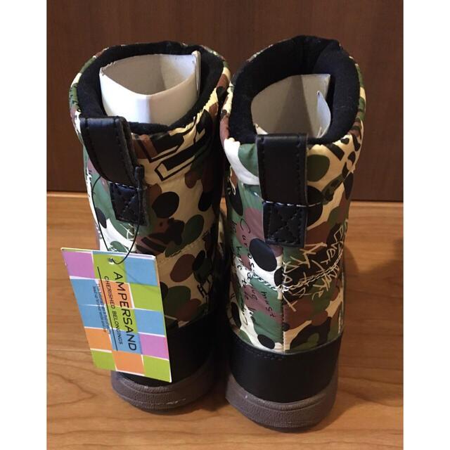 ampersand(アンパサンド)の【未使用】アンパサド スノーブーツ 19cm キッズ/ベビー/マタニティのキッズ靴/シューズ(15cm~)(ブーツ)の商品写真