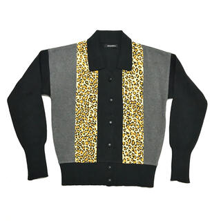 HYSTERIC GLAMOUR - HYSTERICS Leopard Switch Design Cardigan