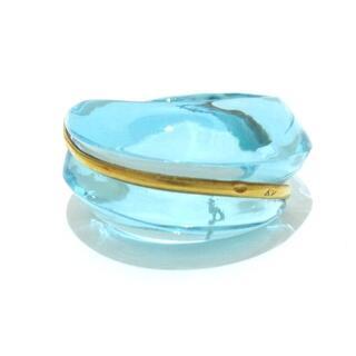 バカラ(Baccarat)のバカラ リング美品  - ライトブルー(リング(指輪))