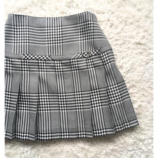 ベベ(BeBe)のタグ付き新品●Bebe チェック プリーツ スカート 160cm(スカート)