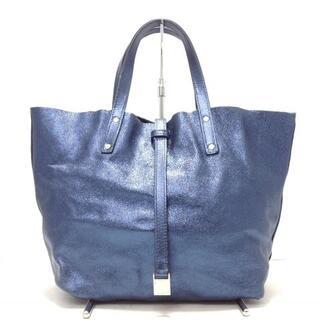 ティファニー(Tiffany & Co.)のティファニー トートバッグ ブルー レザー(トートバッグ)