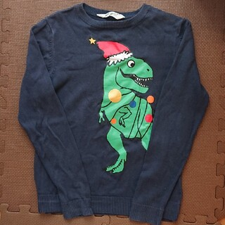 H&M - H&M 140 サンタ 恐竜柄 セーター
