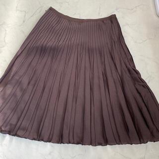 ワールドベーシック(WORLD BASIC)のプリーツスカート L(ひざ丈スカート)