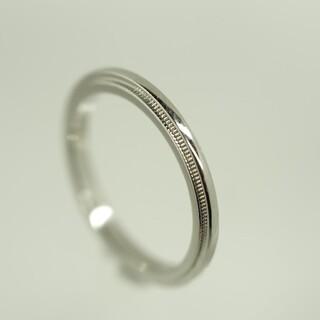 ティファニー(Tiffany & Co.)の質流れ品N!TIFFANY&Co. ティファニー ミルグレイン プラチナ リング(リング(指輪))
