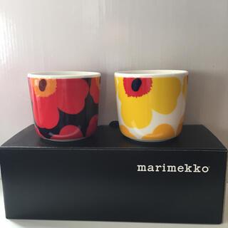 marimekko - 【未使用】廃盤 マリメッコ ウニッコ 50周年記念ラテマグ 2色セット