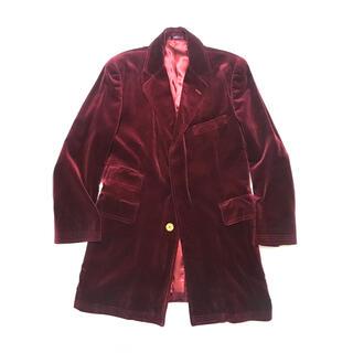 ポールスミス(Paul Smith)のPAUL SMITH Red Velvet Chester-Coat(チェスターコート)