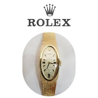 ROLEX - アンティーク ロレックス 手巻き腕時計 K14 金無垢 ジュエリーウォッチ