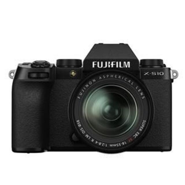 富士フイルム(フジフイルム)の新品 未開封 FUJIFILM X-S10 XF18-55mm ブラック スマホ/家電/カメラのカメラ(ミラーレス一眼)の商品写真
