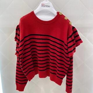 レッドヴァレンティノ(RED VALENTINO)のREDVALENTINO ボダン付きデザインウール混セーター(ニット/セーター)