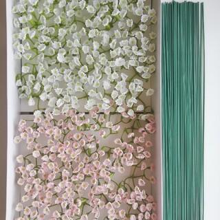 ソープフラワー 花材 かすみ草 ホワイト&ピンク(その他)