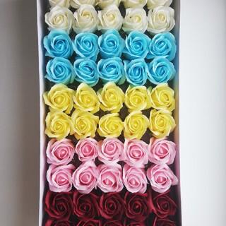 ソープフラワー 花材 薔薇 バラ 5色アソート(その他)