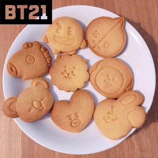 BT21 bts バンタンクッキー型(調理道具/製菓道具)