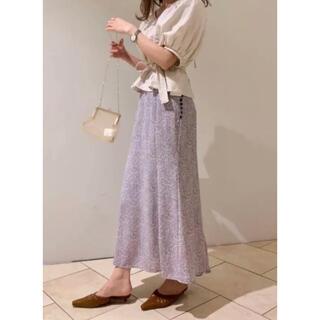 snidel - SNIDEL ♡ リバティプリントバックフレアスカート