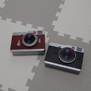 カルディ(KALDI)のカルディ カメラ缶 2個セット(小物入れ)