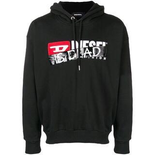 ディーゼル(DIESEL)のDiesel パーカー IS DEAD  ブラック  L ディーゼル(パーカー)