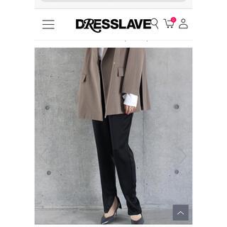 DRESSLAVE - ★DRESSLAVE ドレスレイブ サテンテーパードスリット パンツ 未使用