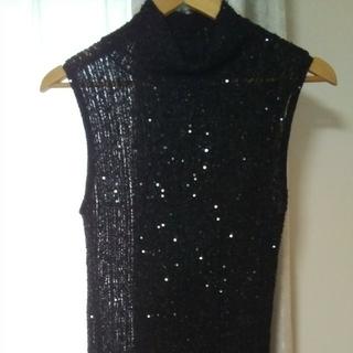 ダナキャランニューヨーク(DKNY)のダナ・キャランビーズ刺繍 ノースリーブセーター(ニット/セーター)