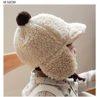 新品☆ベビー キッズ ふわもこ 帽子 韓国子供服