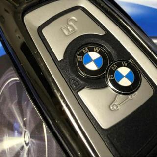 ビーエムダブリュー(BMW)のBMW リモートスマートキー、ラジオボタンにエンブレムステッカー11mm2枚(車種別パーツ)