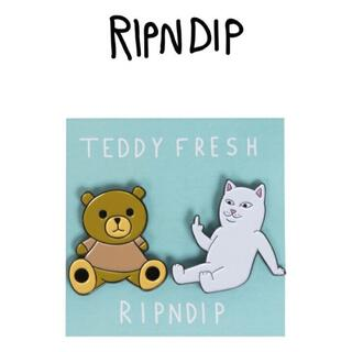 ripndip ピンバッチ Teddy Fresh BFF Pin Pack (その他)
