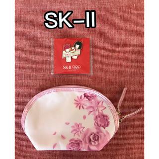 エスケーツー(SK-II)のエスケーツー SK-II ポーチ・オリンピック ピンバッジ ノベルティ 未使用品(ポーチ)