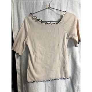 ヘザー(heather)のHeather ワンショルハイショクメロウ半袖 アイボリー(Tシャツ(半袖/袖なし))