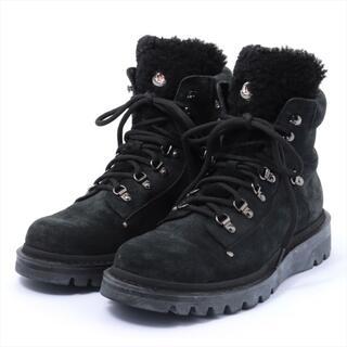 モンクレール(MONCLER)のモンクレール  スエード 42 ブラック メンズ ブーツ(ブーツ)