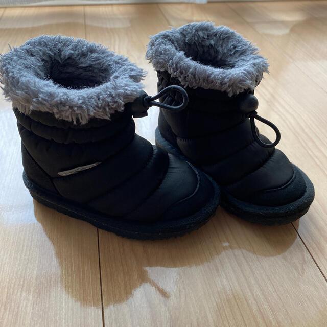 ampersand(アンパサンド)のAmpersand ナイロンキルト裏ボアブーツ 13cm キッズ/ベビー/マタニティのベビー靴/シューズ(~14cm)(ブーツ)の商品写真
