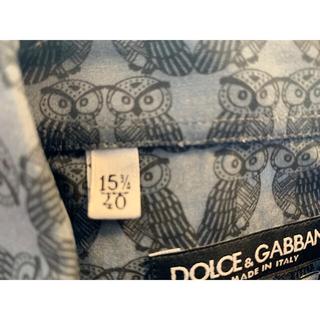 ドルチェアンドガッバーナ(DOLCE&GABBANA)のドルガバ ブラック 柄シャツ ふくろう柄(シャツ)