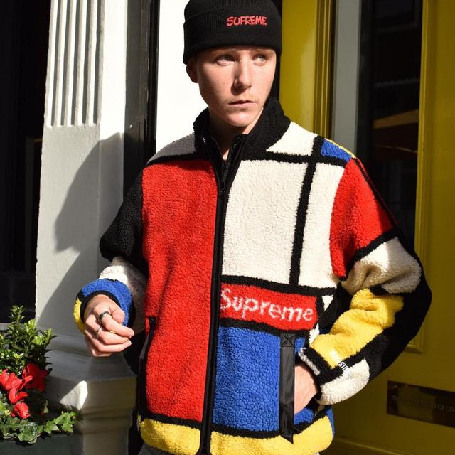 Supreme(シュプリーム)のSupreme Reversible Colorblocked Fleece S メンズのジャケット/アウター(ブルゾン)の商品写真