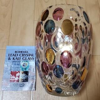 ボヘミア ガラス  花瓶