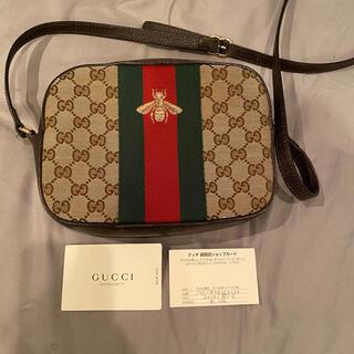 Gucci - GUCCI ショルダーバッグ GG シェリーライン オールドグッチ  ビー 蜂