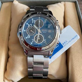 SEIKO - セイコー 腕時計 クロノグラフ ブルー SND193P クォーツ 電池新品