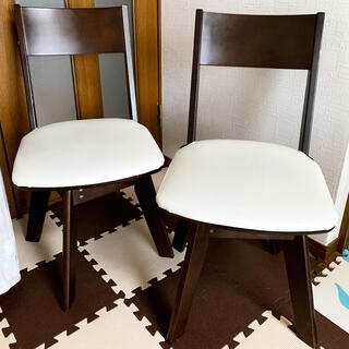 ニトリ(ニトリ)のニトリ ダイニング 360℃ 回転 チェア 椅子 1脚 ①(ダイニングチェア)