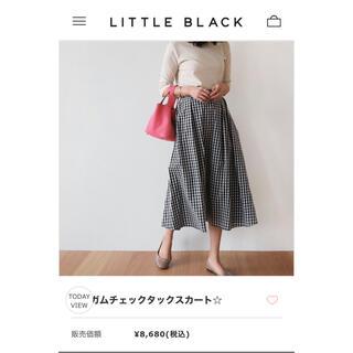 LITTLE BLACK - ギンガムチェックタックスカート新品